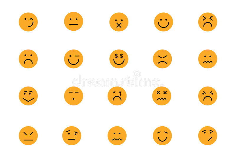 Smiley Colored Vector Icons 6 stock illustratie