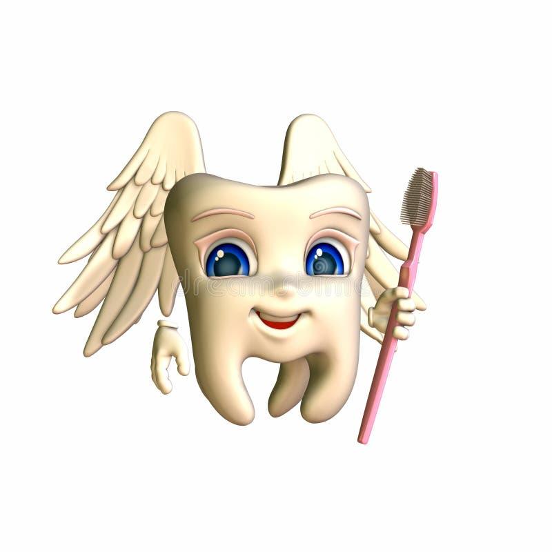 smiley czarodziejski ząb ilustracja wektor