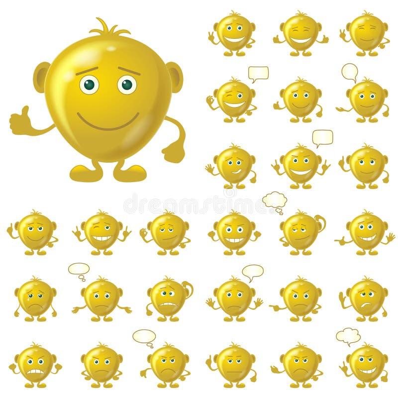 Smiley d'or, ensemble illustration libre de droits