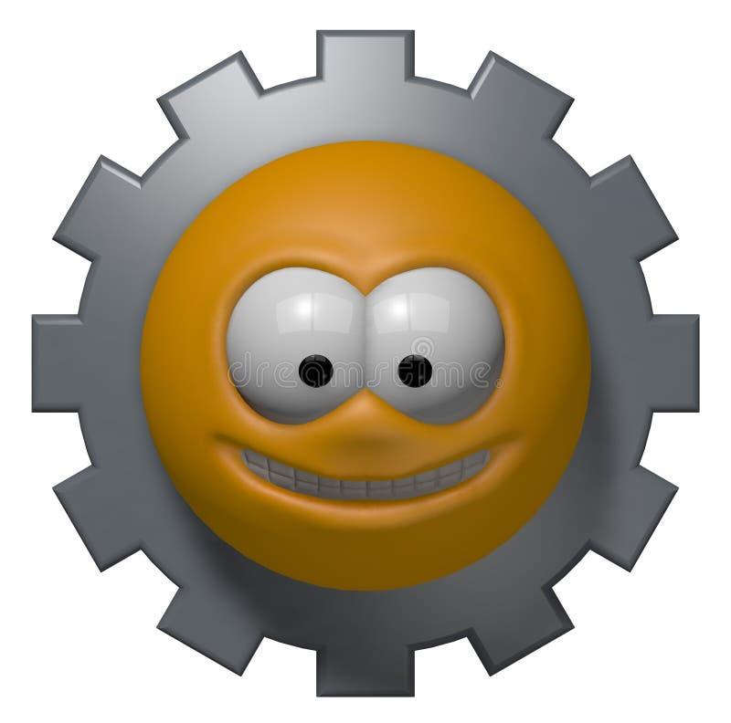 Smiley da indústria ilustração stock