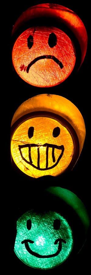 Smiley da luz de rua imagem de stock