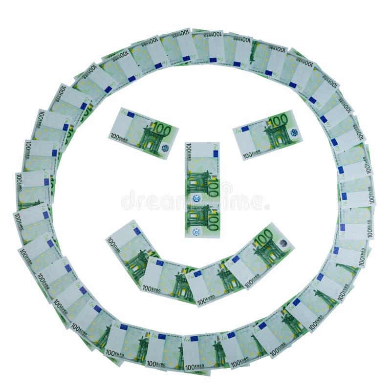 Smiley de billetes de banco euro fotos de archivo libres de regalías