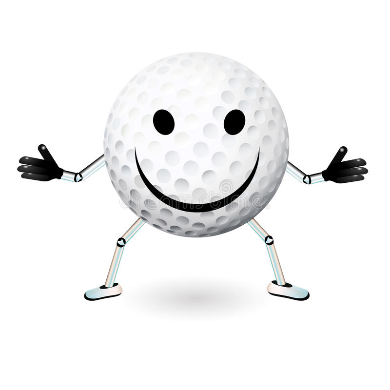 Smiley de boule de golf illustration stock