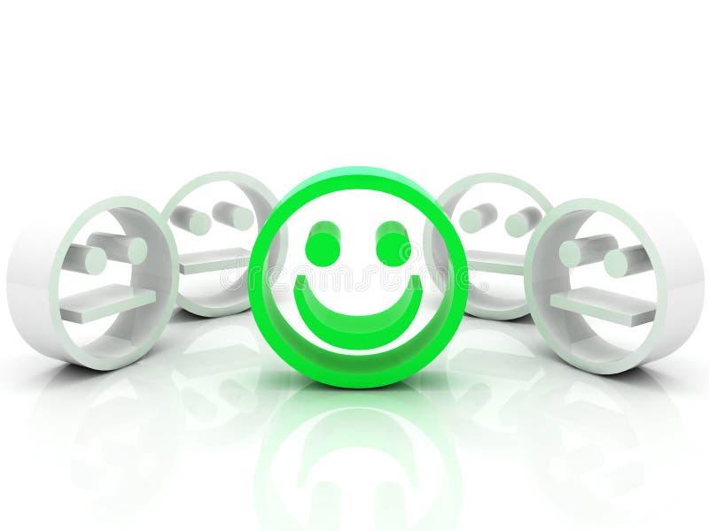 Smiley in de menigte stock illustratie