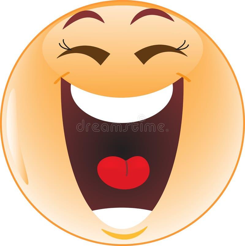 Smiley de risa ilustración del vector