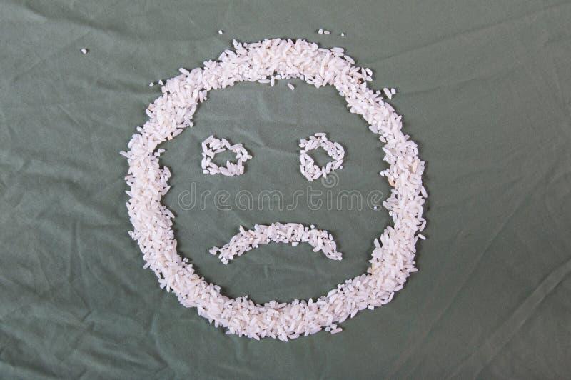 Smiley de riz photo libre de droits