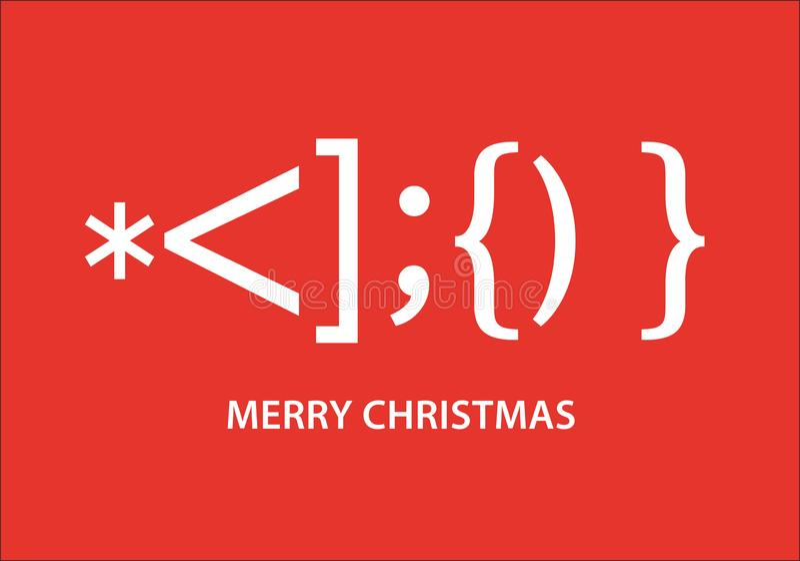 Smiley de Santa Claus, tarjeta de Navidad tipográfica, diseño gráfico de vector stock de ilustración