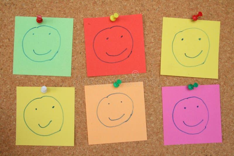 Smiley de tableau d'affichage image libre de droits