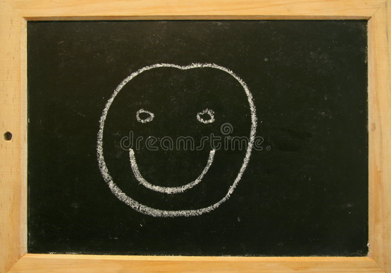 Smiley de tableau noir image libre de droits