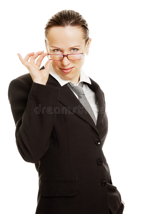 smiley de verticale de femme d'affaires joli images stock