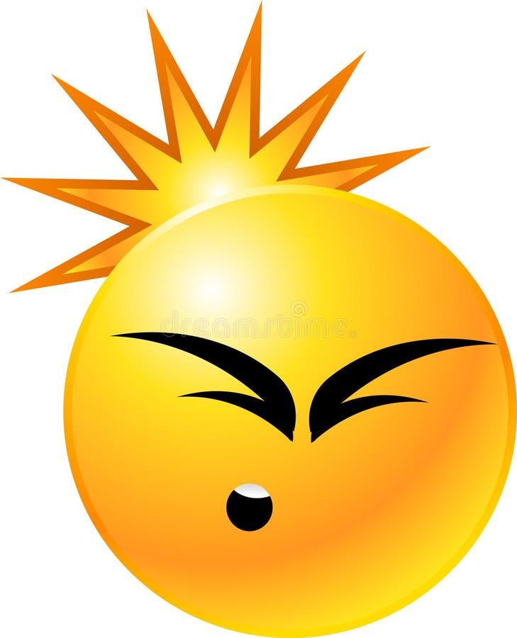 smiley de visage d'émoticône illustration de vecteur