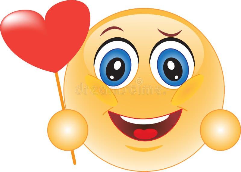 Smiley. Declaração do amor. ilustração do vetor