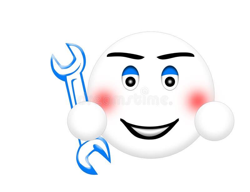 Smiley del mecánico imagenes de archivo