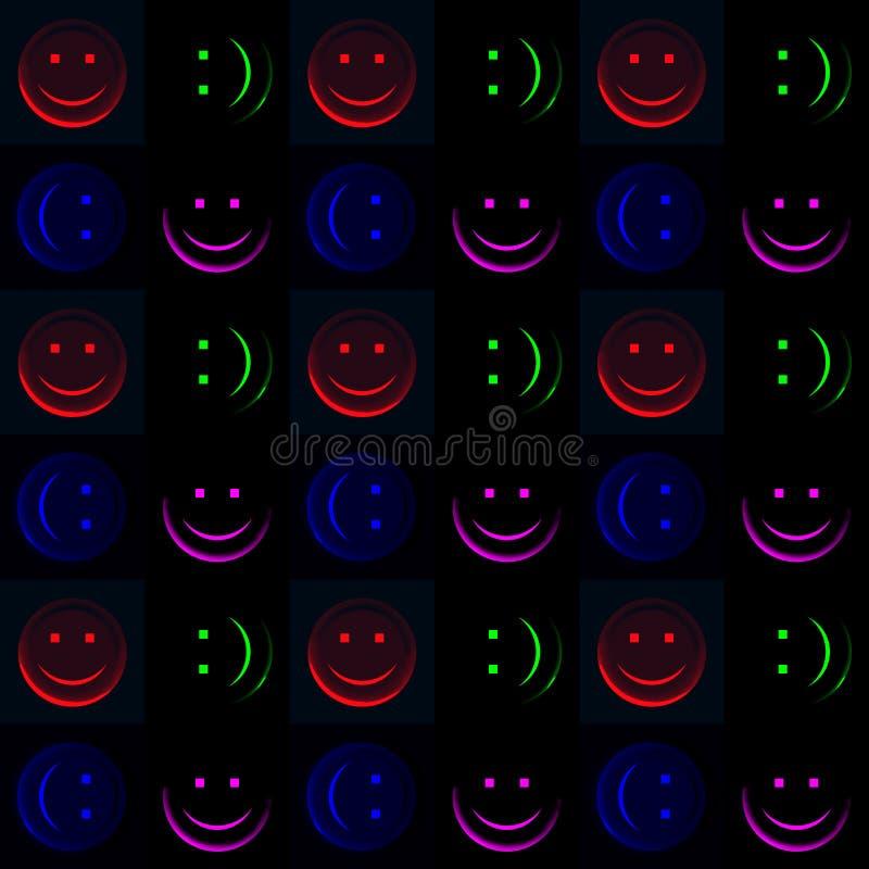Smiley in der Dunkelheit stock abbildung