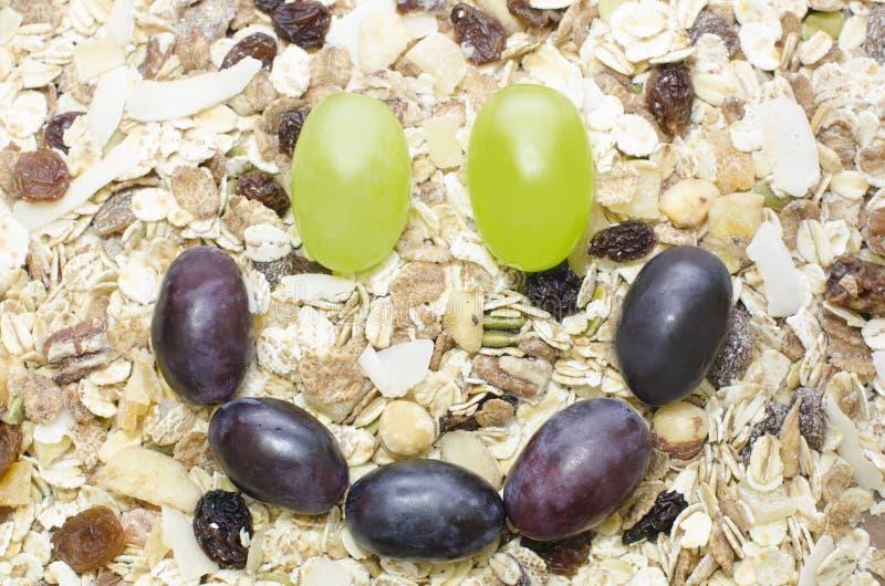 Smiley des raisins photographie stock libre de droits