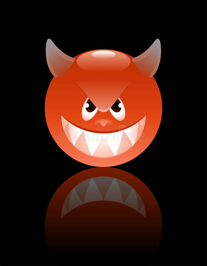 Download Smiley Devil stock vector. Illustration of angry, cartoonish - 13543812