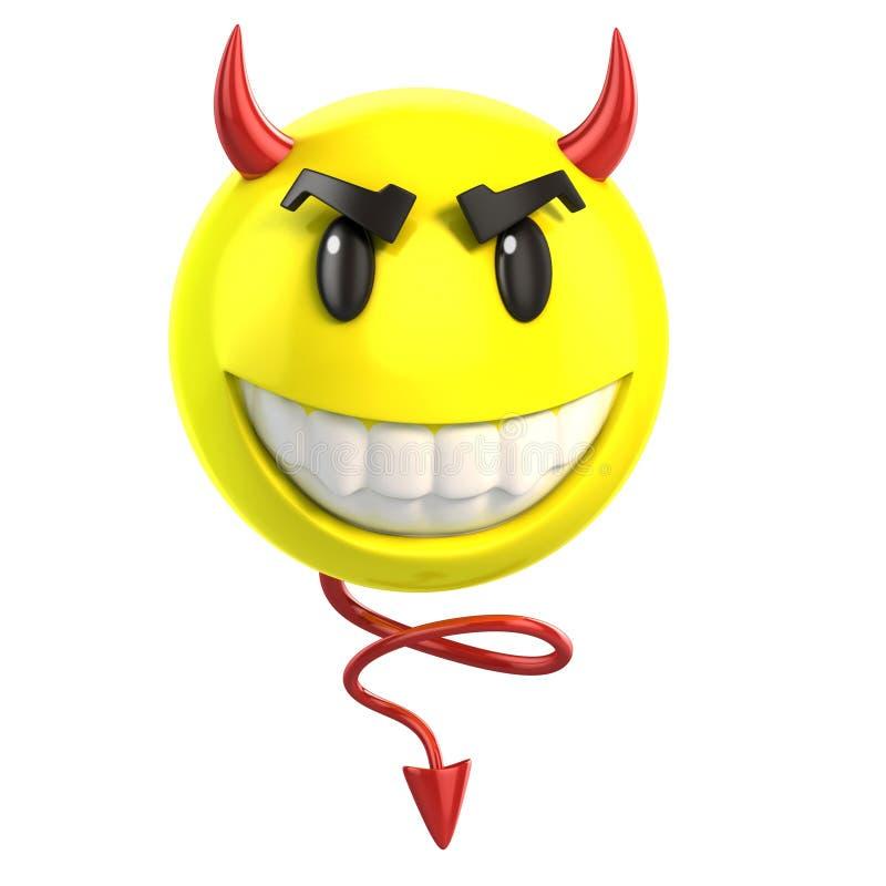Smiley diabeł royalty ilustracja