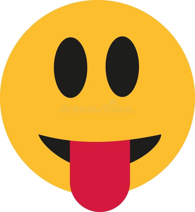 Smiley die uit tong plakken royalty-vrije illustratie