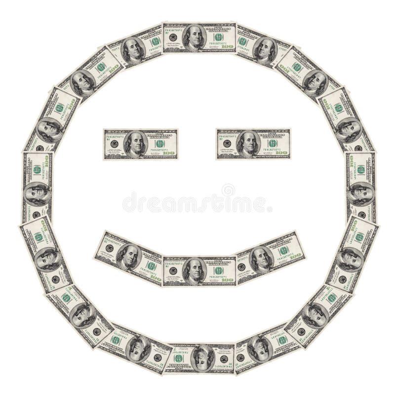 Smiley do dólar feliz fotos de stock