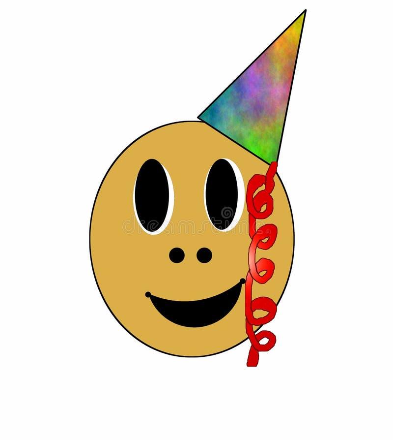 Smiley do partido ilustração do vetor