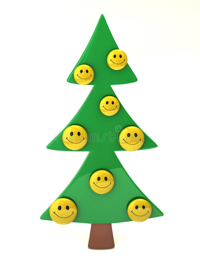 smiley drzewo ilustracja wektor