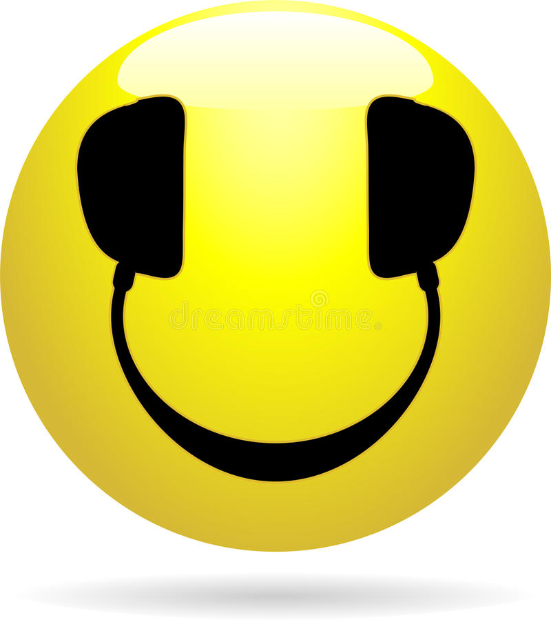 smiley du DJ illustration stock