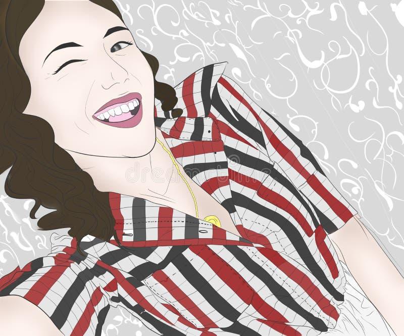 Smiley dziewczyna ilustracji