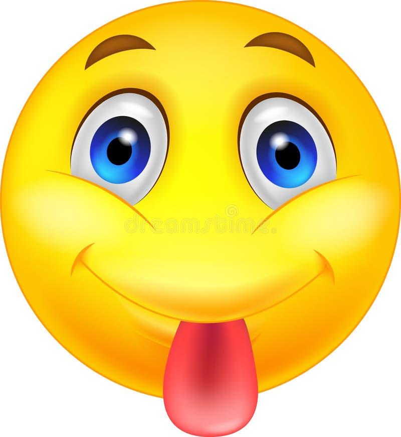 Zunge aus Emoji-Text