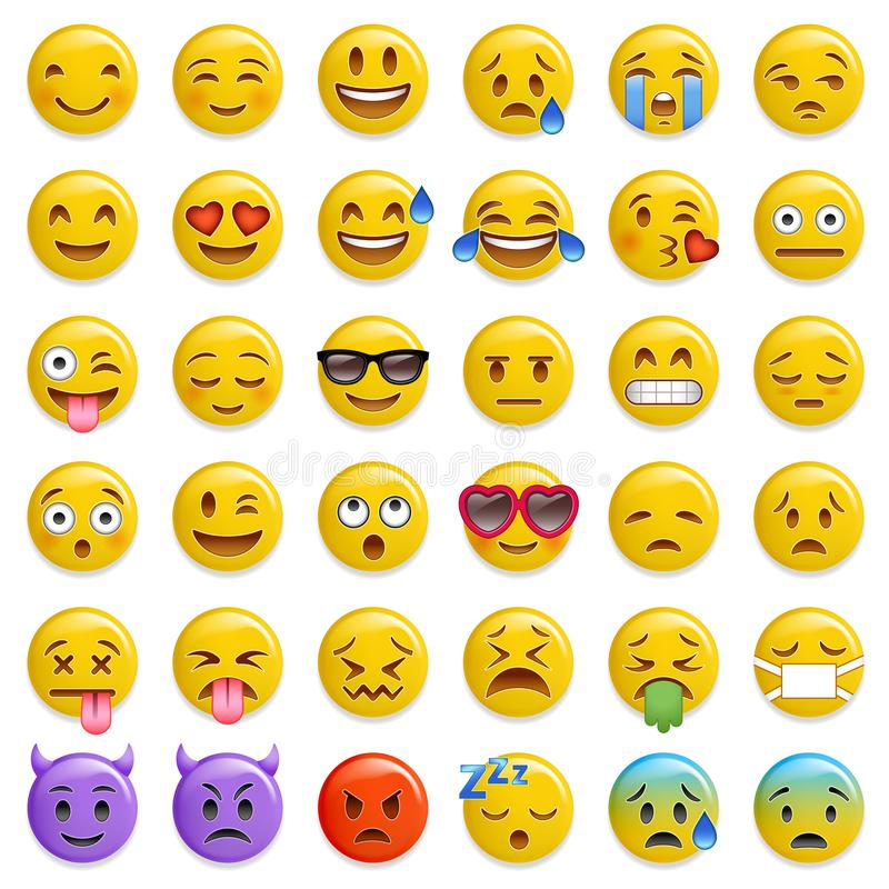 Smiley emoticon glossy vector set vector illustration