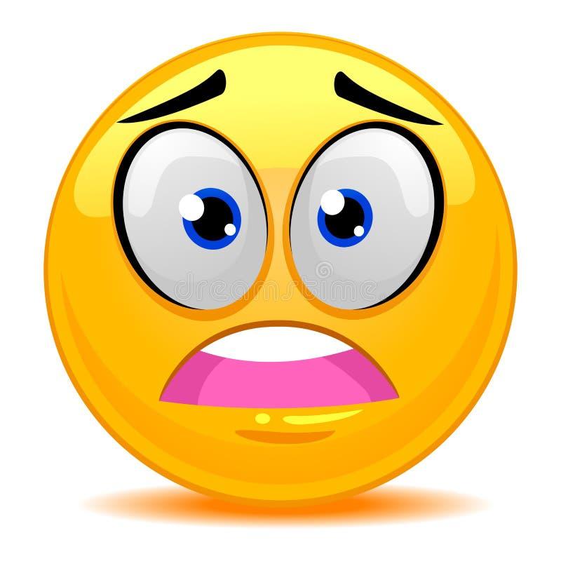 Smiley Emoticon Scared Face illustrazione vettoriale