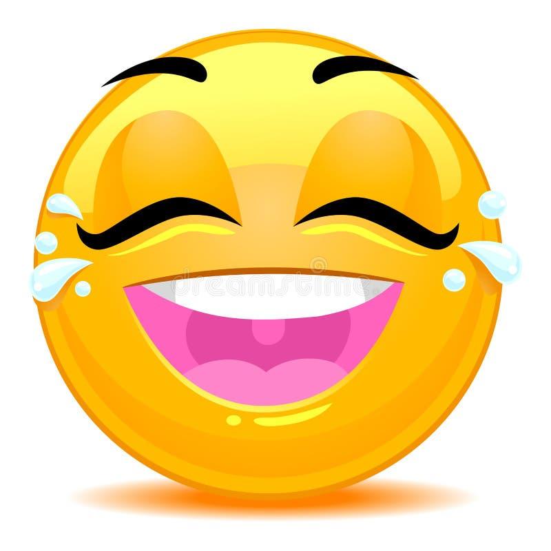Smiley Emoticon Tears di Joy Face illustrazione vettoriale