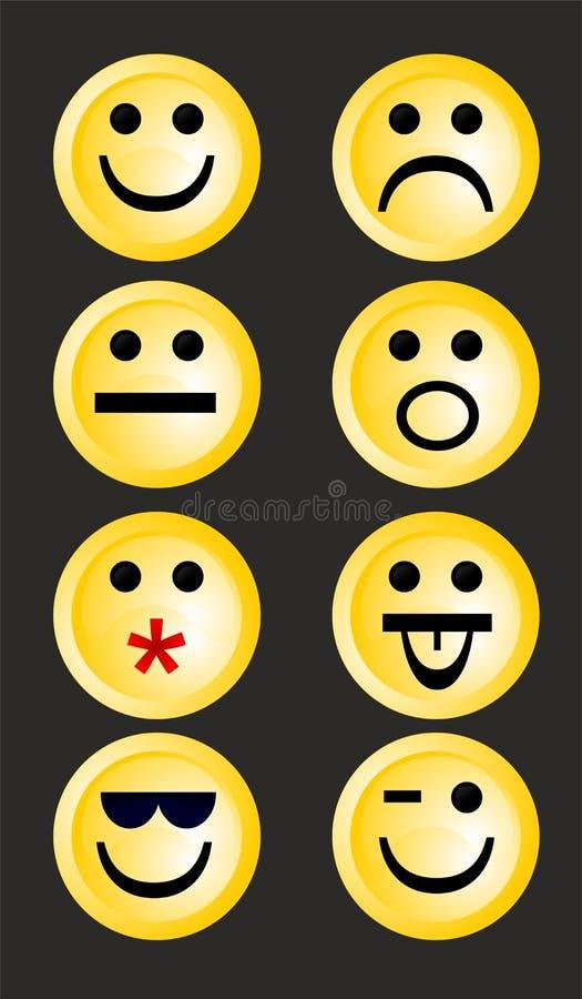 Smiley emoticons ilustracja wektor