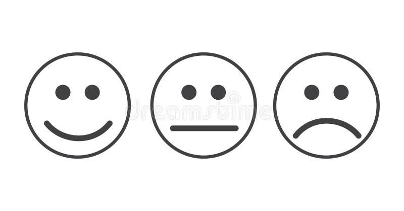 Smiley emoticons pictogram vector illustratie illustratie - Smiley en noir et blanc ...