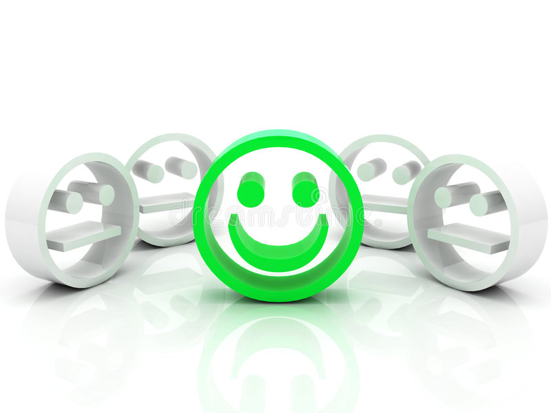 Smiley en la muchedumbre stock de ilustración