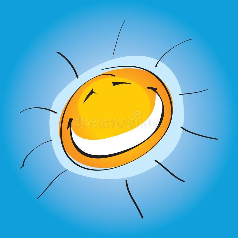 Smiley ensolarado   ilustração do vetor
