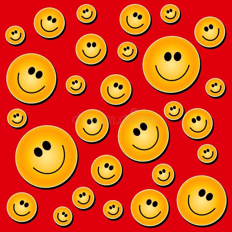 smiley för bakgrundsframsidared stock illustrationer
