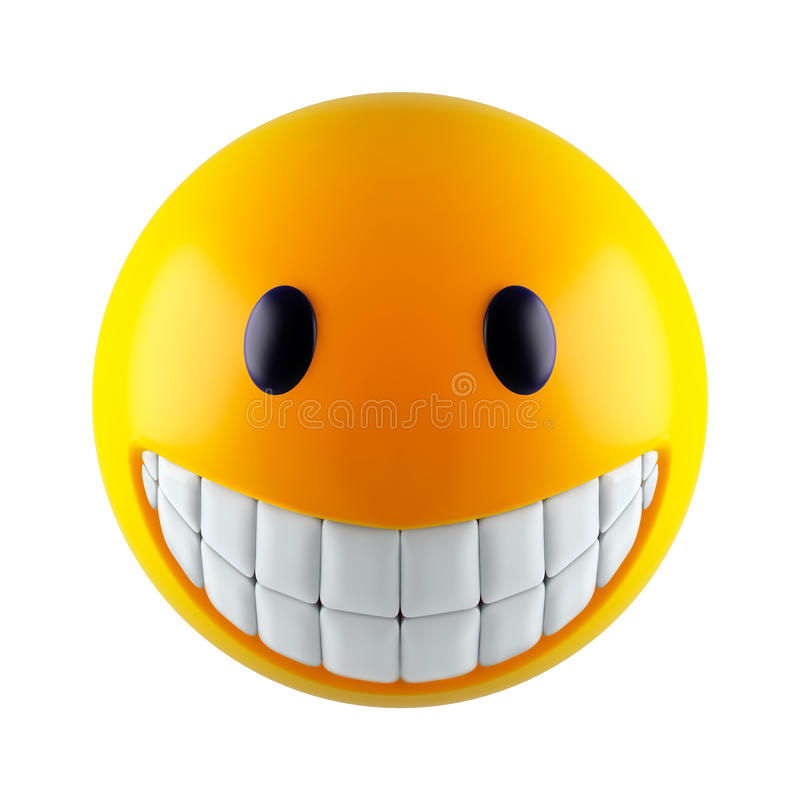 Smiley face. Yellow smiley face (3d render royalty free illustration
