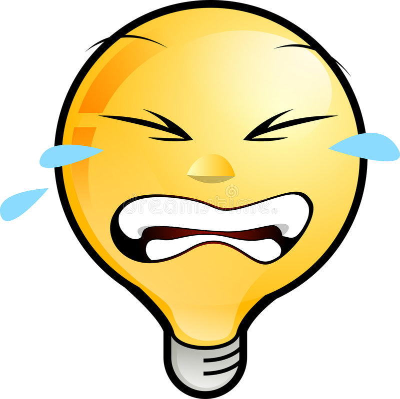 Smiley Face. Icon. lighting bulb character crying out loud royalty free illustration