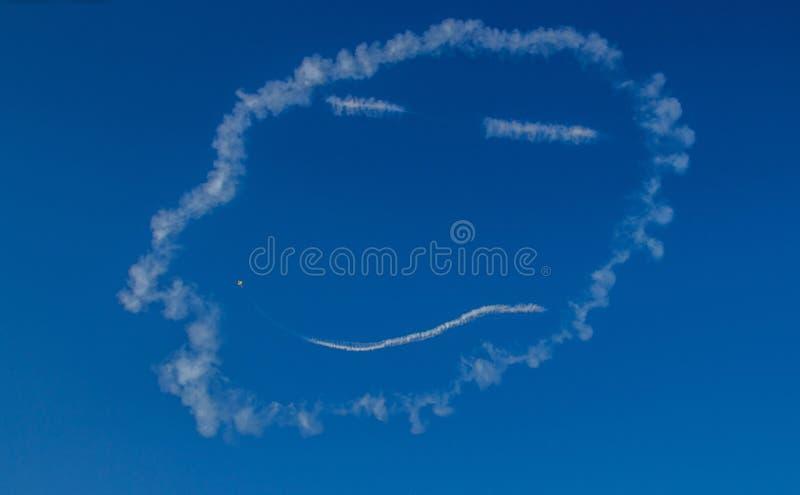 Smiley Face Air Show royaltyfri bild