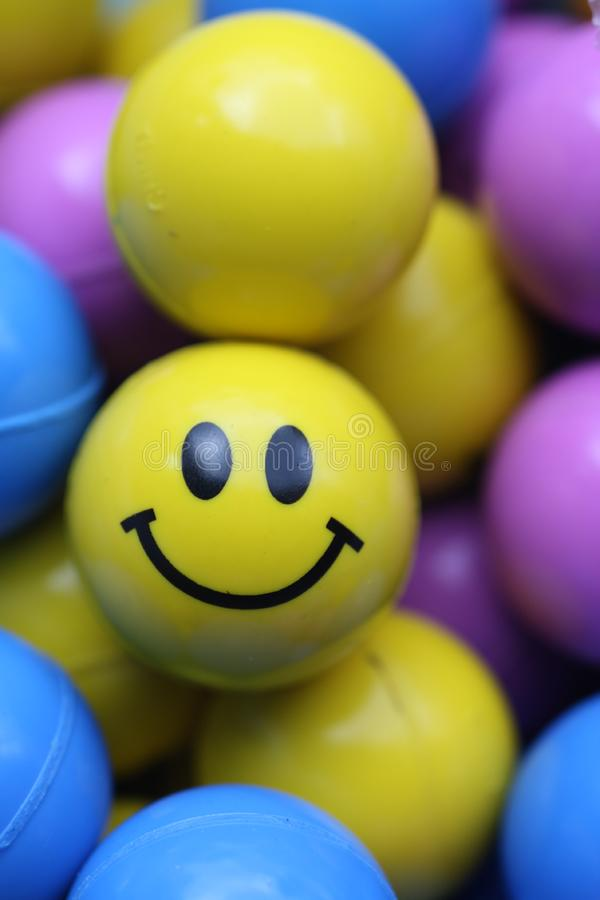 Smile Face Ball Stock Image