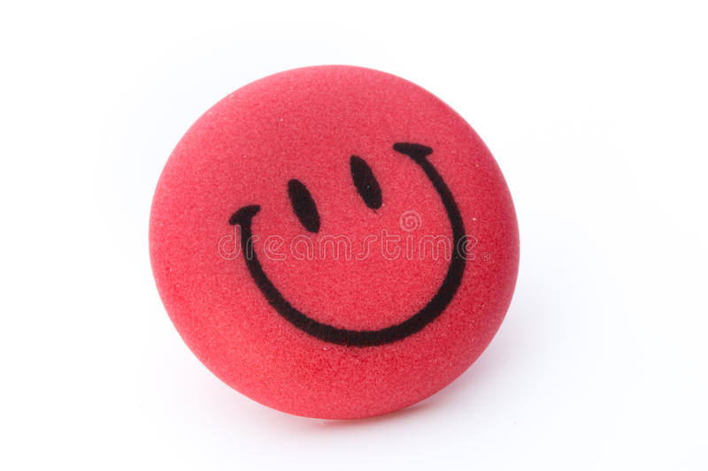 Smiley face ball background on the white background.  royalty free stock photography