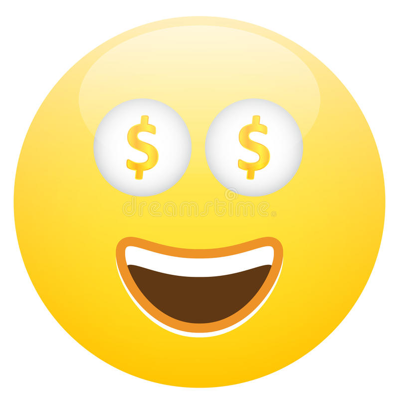 Smiley Face With Cash illustration stock