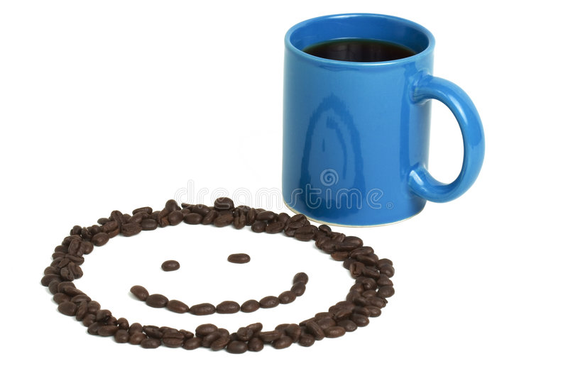 Smiley Face and Coffee stock photo