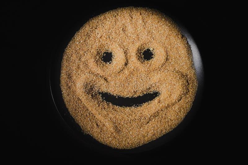 Smiley Face Drawn arkivbilder