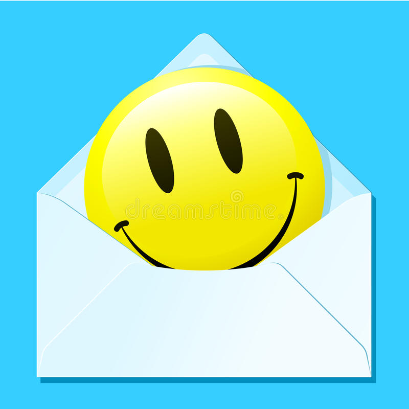 Smiley Face In Envelope Royalty Free Stock Photo