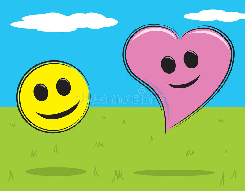 Download Smiley Face and Heart stock vector. Image of stylized - 16881873