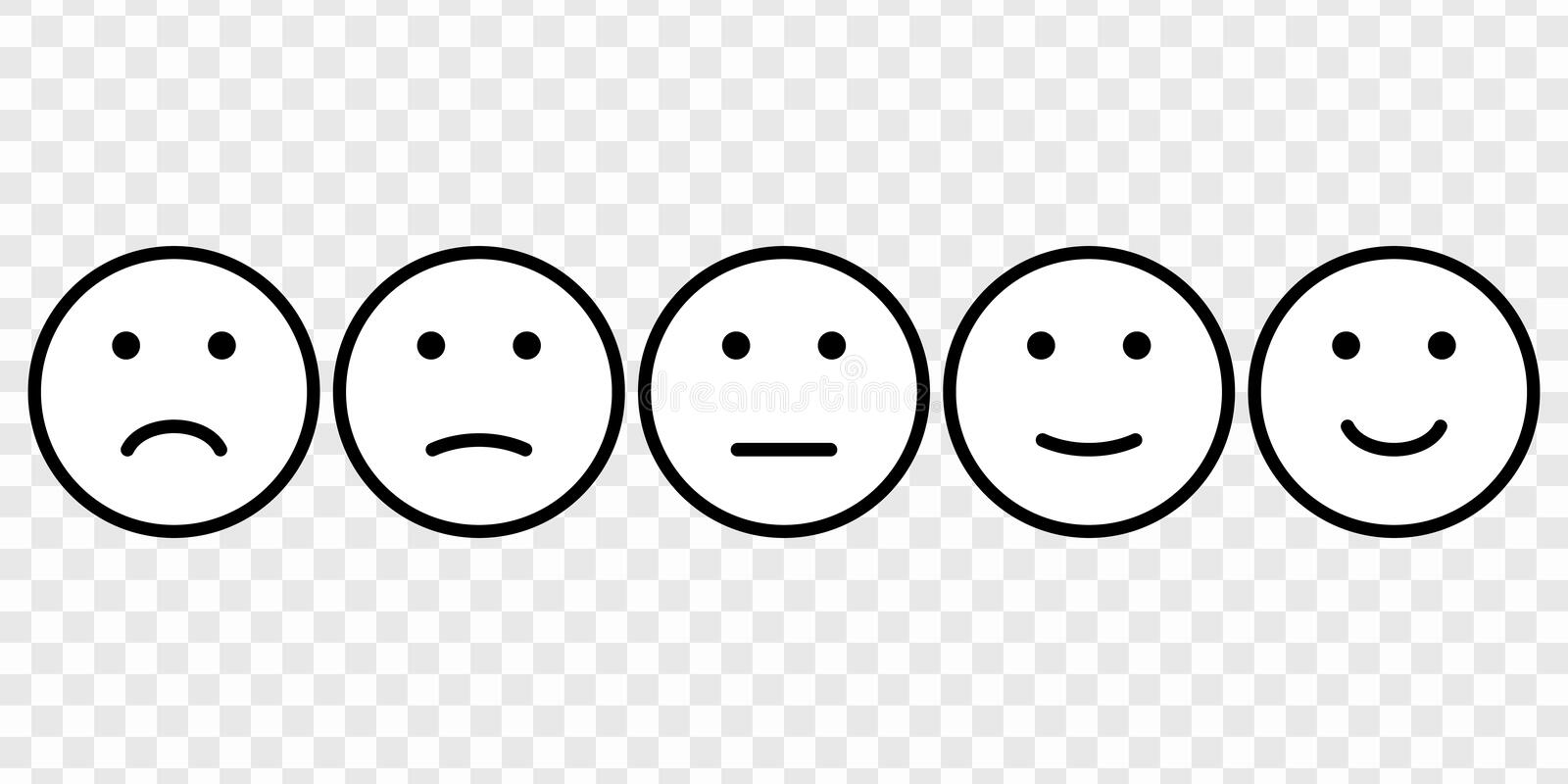 Smiley Face Evaluation Stock Illustrations – 426 Smiley Face