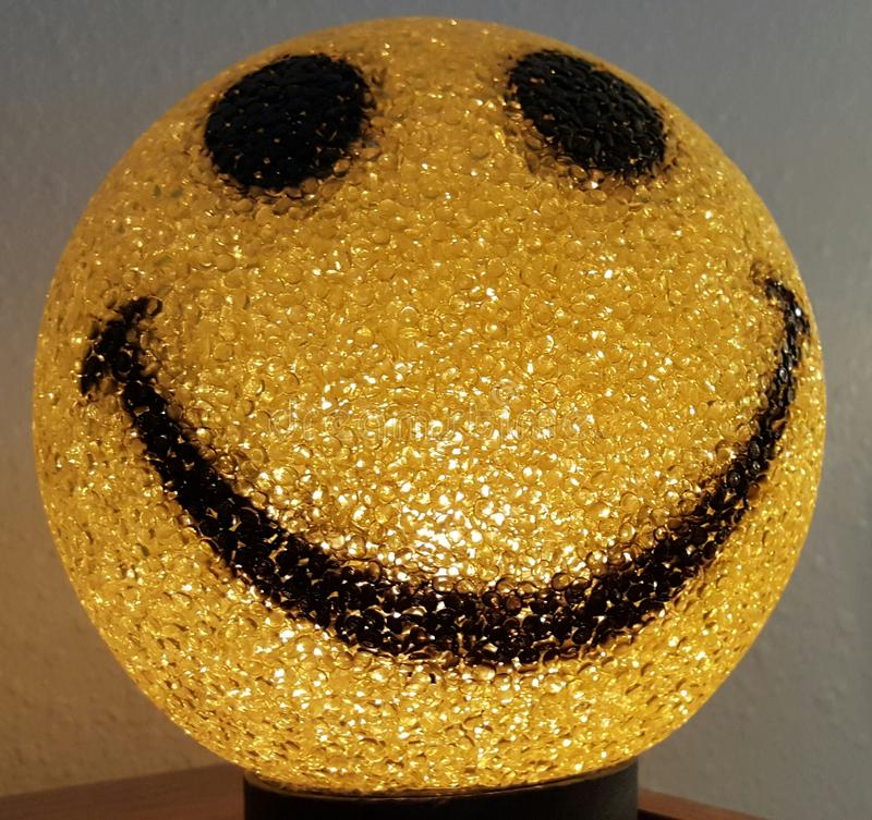 Smiley face light. stock photos