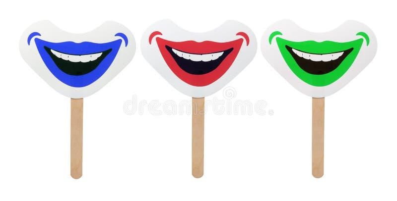 Smiley Face Masks royaltyfria foton
