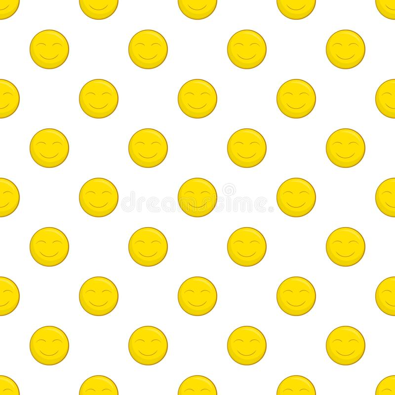 Smiley face pattern, cartoon style. Smiley face pattern. Cartoon illustration of smiley face vector pattern for web royalty free illustration